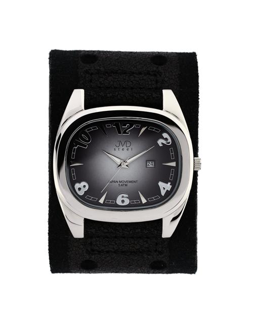 Dámské elegantní hranaté černé hodinky JVD steel J1071.1 (POŠTOVNÉ ZDARMA!!)