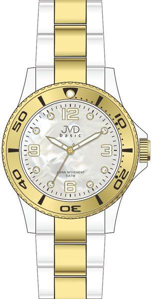 Zlacené voděodolené ocelové Náramkové hodinky JVD basic J6006.1 - 5ATM