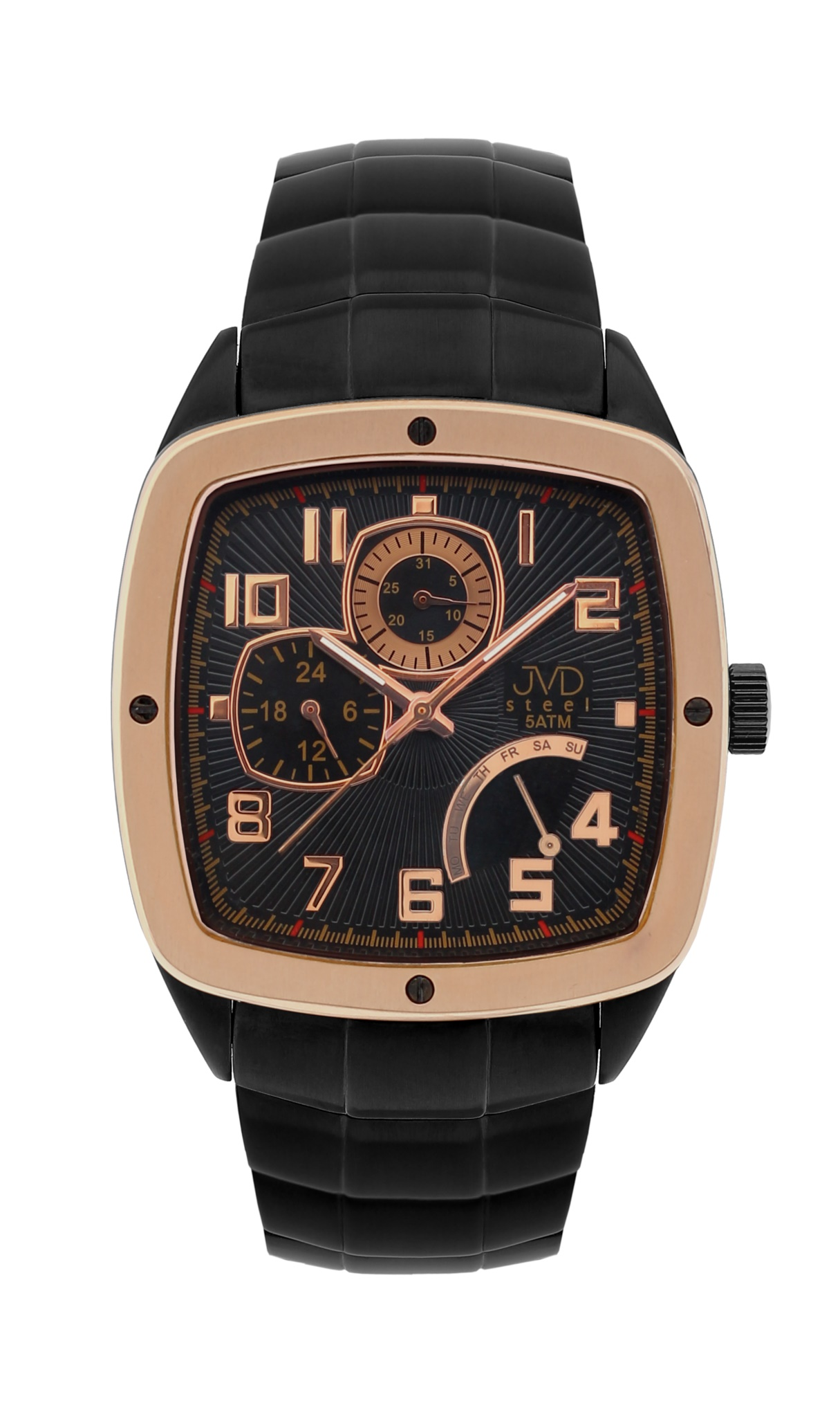 Pánské vodoodolené hranaté exkluzivní náramkové hodinky J1021.1 - 5ATM POŠTOVNÉ ZDARMA!