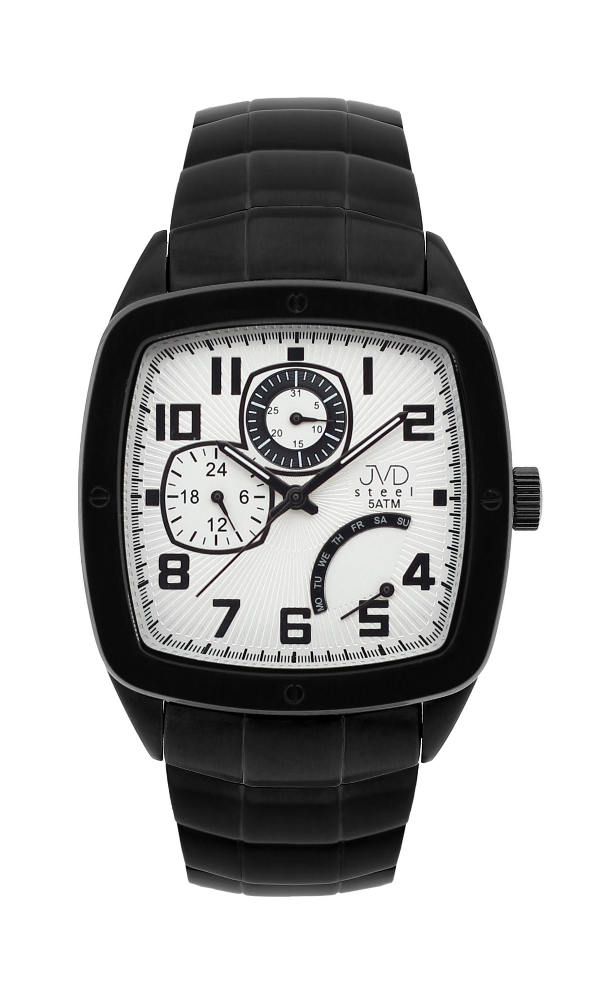 Pánské vodoodolené hranaté exkluzivní náramkové hodinky J1021.2 - 5ATM POŠTOVNÉ ZDARMA!
