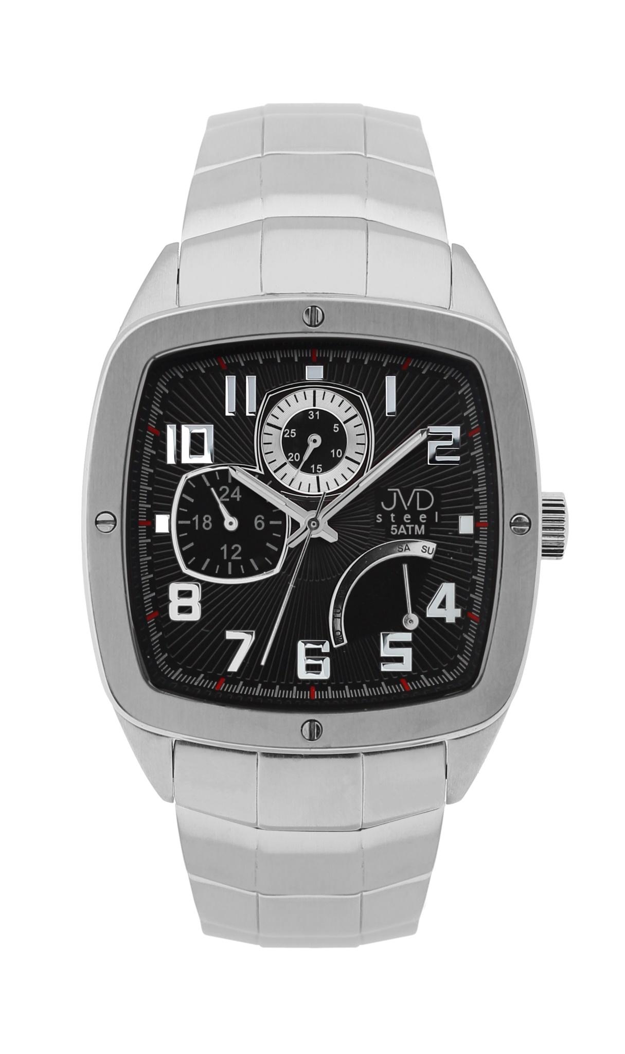 Pánské vodoodolené hranaté exkluzivní náramkové hodinky J1021.3 - 5ATM POŠTOVNÉ ZDARMA!