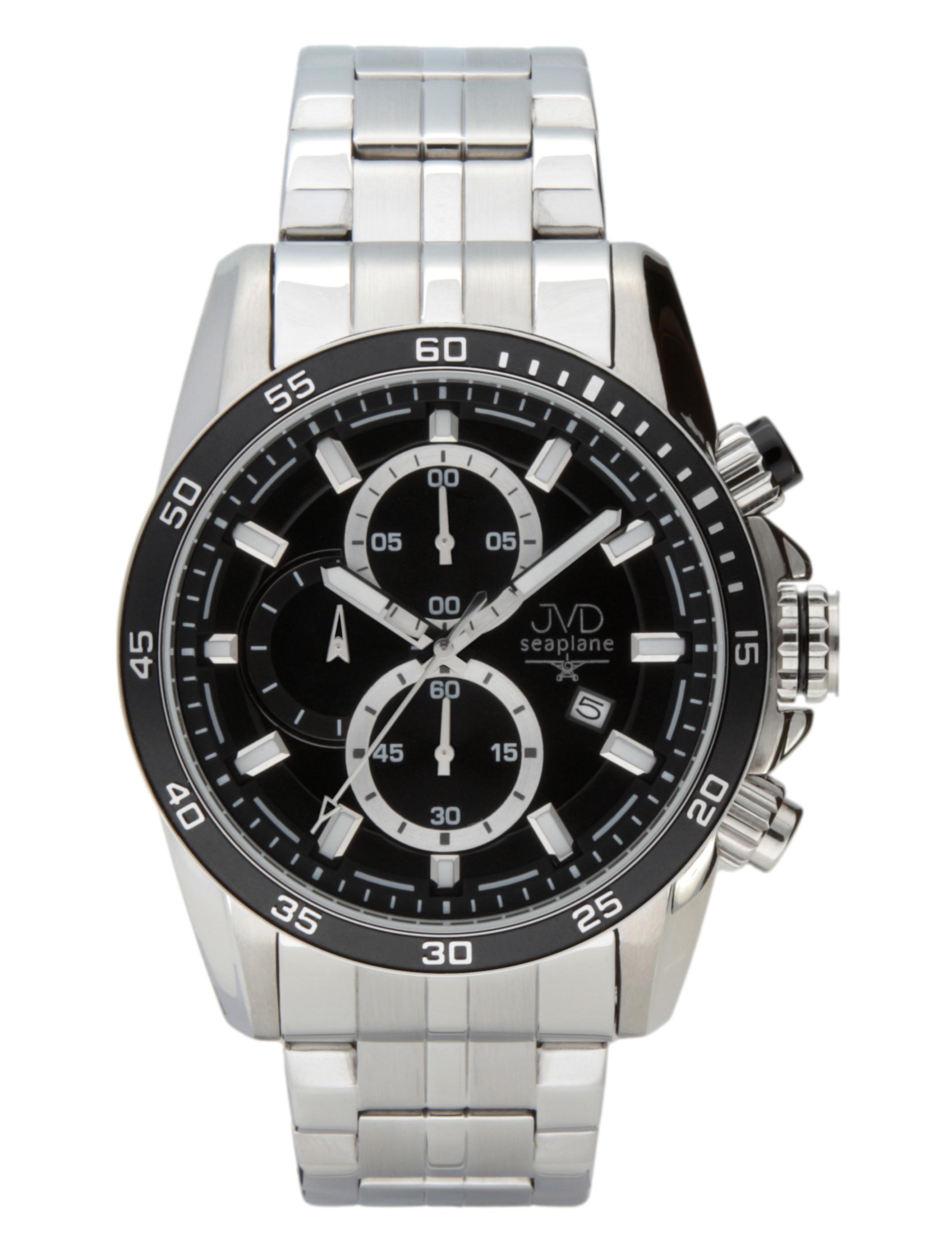 Luxusní pánský ocelový chronograf hodinky JVD seaplane W70.1 10ATM  vodotěsné POŠTOVNÉ ZDARMA! 3d7b4f392a2