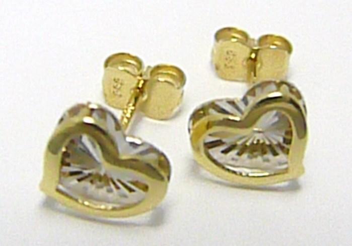 Zlaté pecičky z kombinace zlata ve tvaru srdce s gravírováním 585/1,17gr P333 POŠTOVNÉ ZDARMA! (1431052)