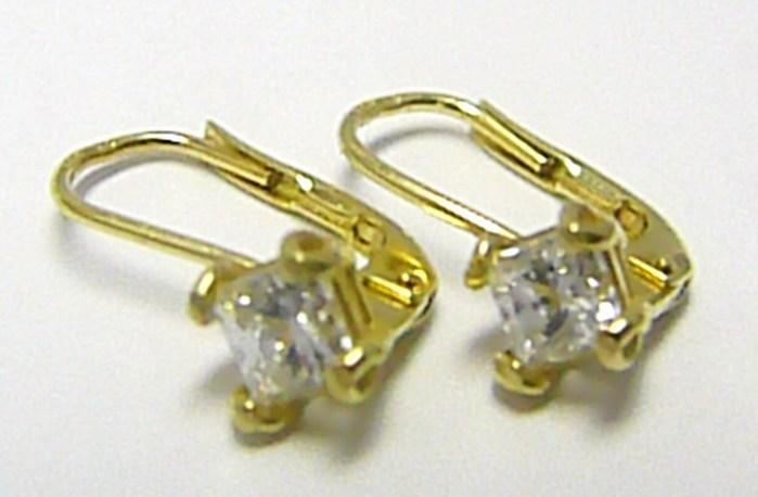 Dámské zlaté náušnice se zirkony v krapnách 585/2,07 gr H242 POŠTOVNÉ ZDARMA!
