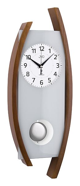 Rádiem řízené dřevěné nástěnné kyvadlové hodiny JVD NR12092/11 POŠTOVNÉ ZDARMA!