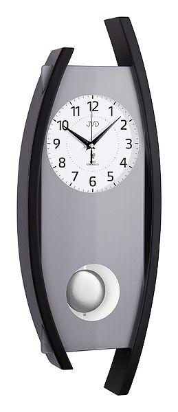 Rádiem řízené dřevěné nástěnné kyvadlové hodiny JVD NR12092/23 POŠTOVNÉ ZDARMA!