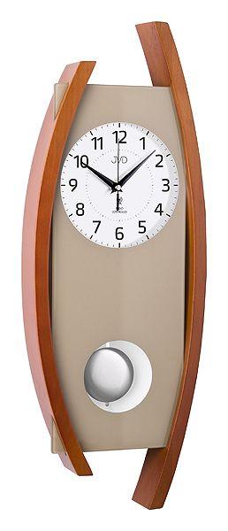 Rádiem řízené dřevěné nástěnné kyvadlové hodiny JVD NR12092/41 POŠTOVNÉ ZDARMA!
