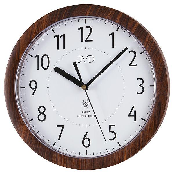 Přesné moderní rádiem řízené hodiny JVD RH612.9 - imitace dřeva
