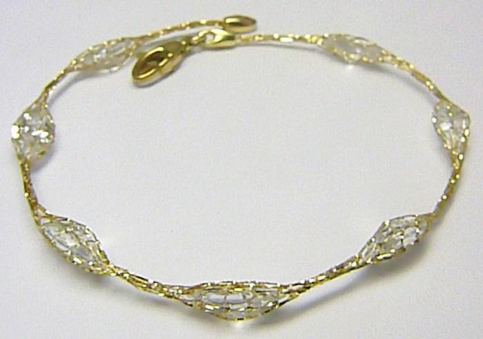 Luxusní mohutný zlatý ozdobný náramek ve zlaté síťovině 19cm 585/3,73gr H275 POŠTOVNÉ ZDARMA!