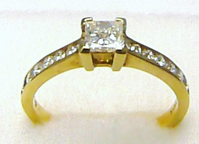 Luxusní mohutný zásnubní prsten s diamanty (14x0,35ct a 1x0,36ct) 585/2,85g P350 POŠTOVNÉ ZDARMA! (3810228.0.57.99)