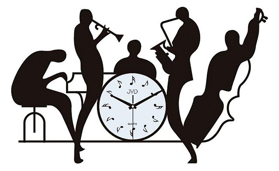 Hudební nástěnné designové hodiny JVD HJ70 pro hudebníky