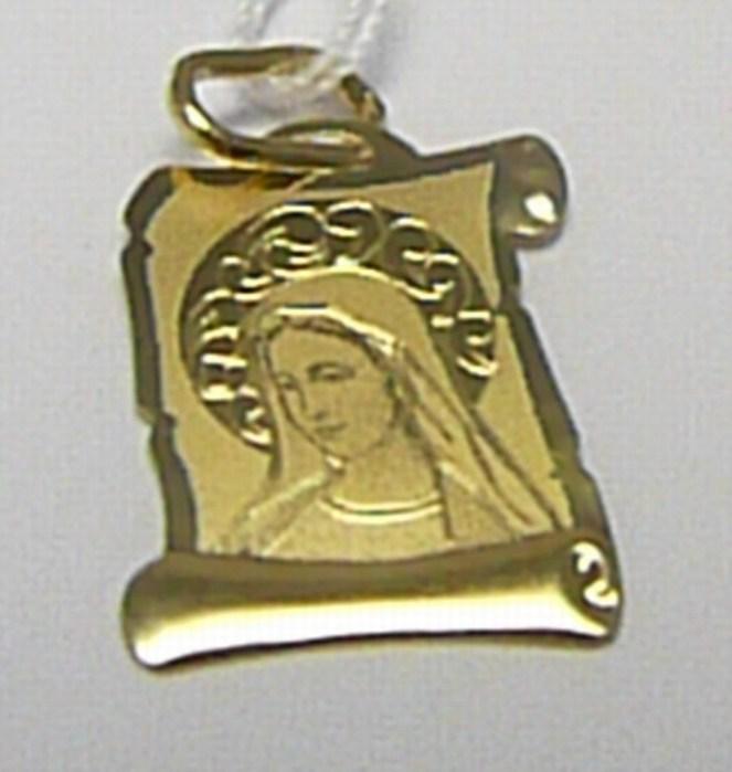 Zlatá madonka - zlatý přívěsek - gravírovaná madonka 585/0,49gr H286