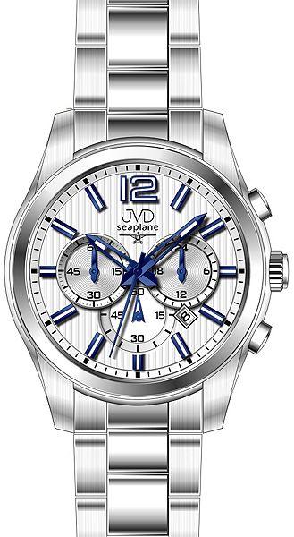 119bb1e4b2e Pánské luxusní ocelové hodinky JVD seaplane W74.1 - chrnografy 10ATM  POŠTOVNÉ ZDARMA!