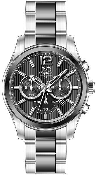 Pánské luxusní ocelové hodinky JVD seaplane W74.2 - chrnografy 10ATMPOŠTOVNÉ ZDARMA!