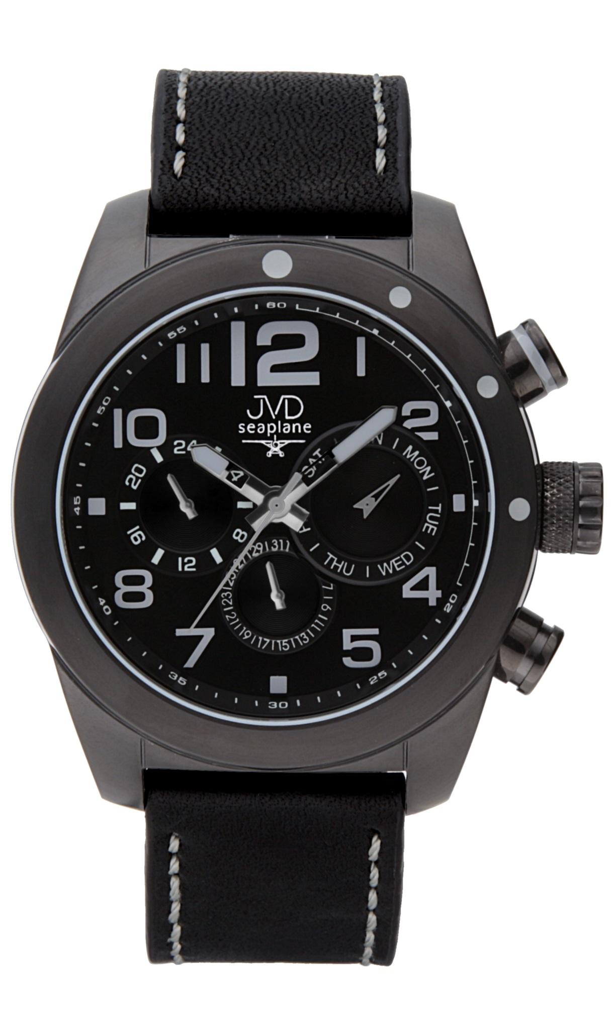 Pánské luxusní ocelové hodinky JVD seaplane W75.2 - chrnografy 10ATM POŠTOVNÉ ZDARMA! (POŠTOVNÉ ZDARMA!!!)