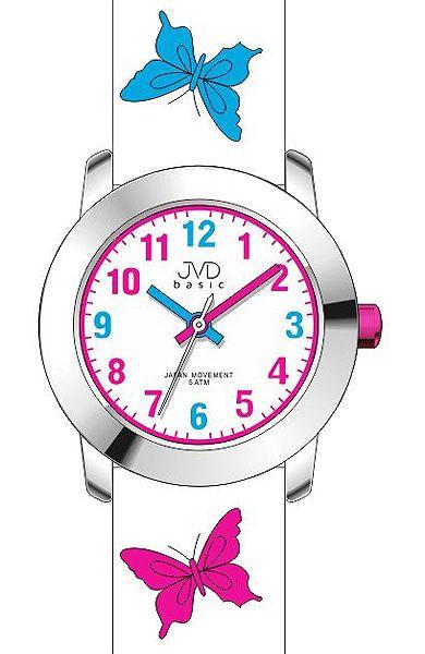 Dívčí dětské barevné hodinky JVD basic J7142.6 s motivem motýlka