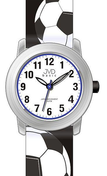 Dětské sportovné chlapecké hodinky JVD basic J7143.4 pro malého fotbalistu