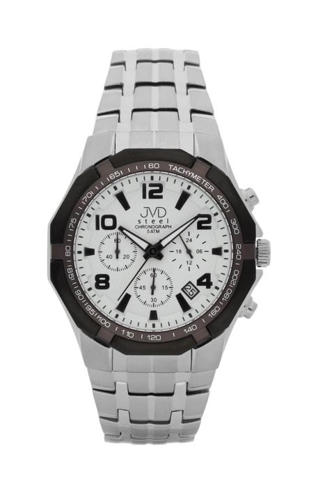 Luxusní pánské chronografy - hodinky JVD steel J1091.1 se stopkami POŠTOVNÉ ZDARMA!