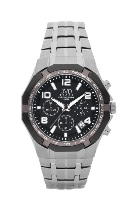 Luxusní pánské chronografy - hodinky JVD steel J1091.2 se stopkami POŠTOVNÉ ZDARMA!
