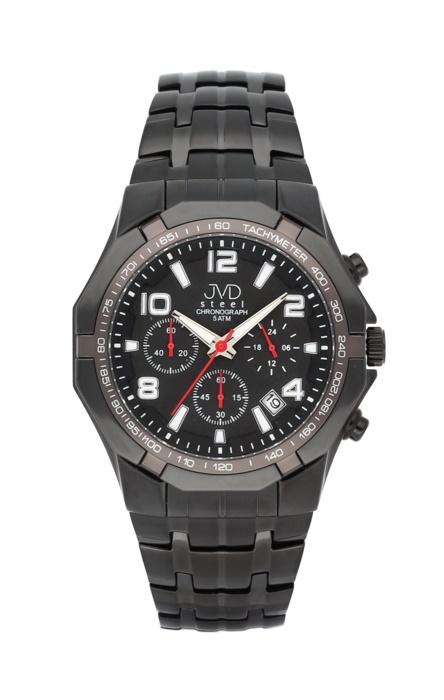 Luxusní pánské chronografy - hodinky JVD steel J1091.3 se stopkami POŠTOVNÉ ZDARMA!