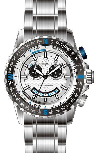 Vodotěsné chronografy ocelové hodinky JVD seaplane J1091.1 - 10ATM POŠTOVNÉ  ZDARMA! 5844f2a0c2