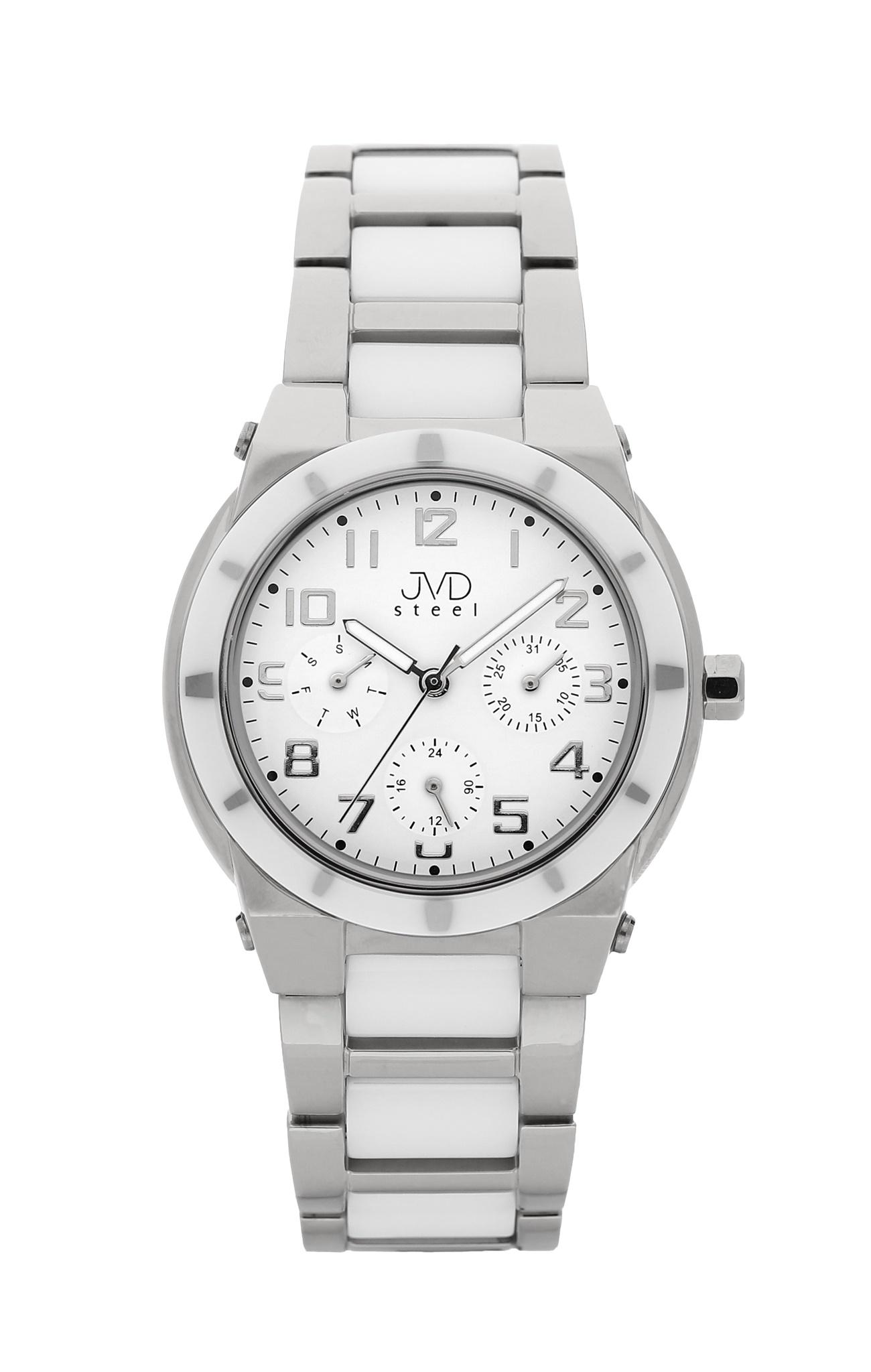 a8c646bad Dámský chronograf - keramické hodinky JVD steel J4131.1 s keramickou  lunetou POŠTOVNÉ ZDARMA!
