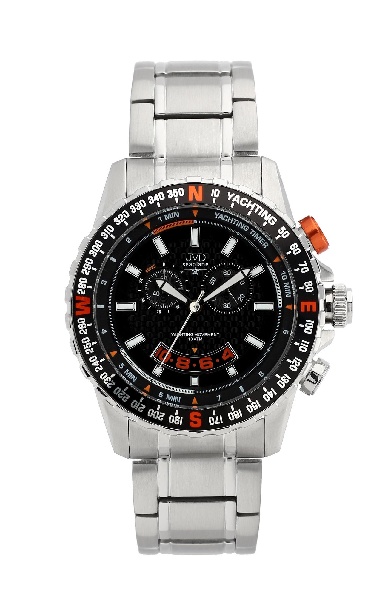 Vysoce odolené sportovní vodotěsné hodinky JVD seaplane J1096.2 - chronograf POŠTOVNÉ ZDARMA!
