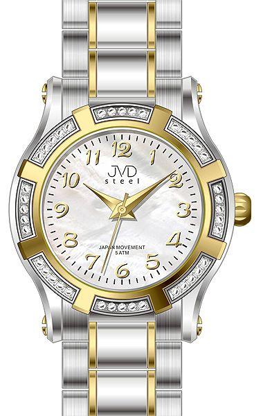 Dámské ocelové módní voděodolné hodinky JVD steel J4128.2 - 5ATM POŠTOVNÉ ZDARMA!