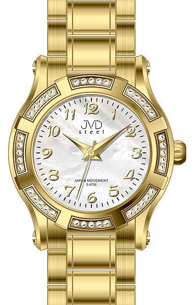 Dámské ocelové módní voděodolné hodinky JVD steel J4128.3 - 5ATM POŠTOVNÉ ZDARMA!