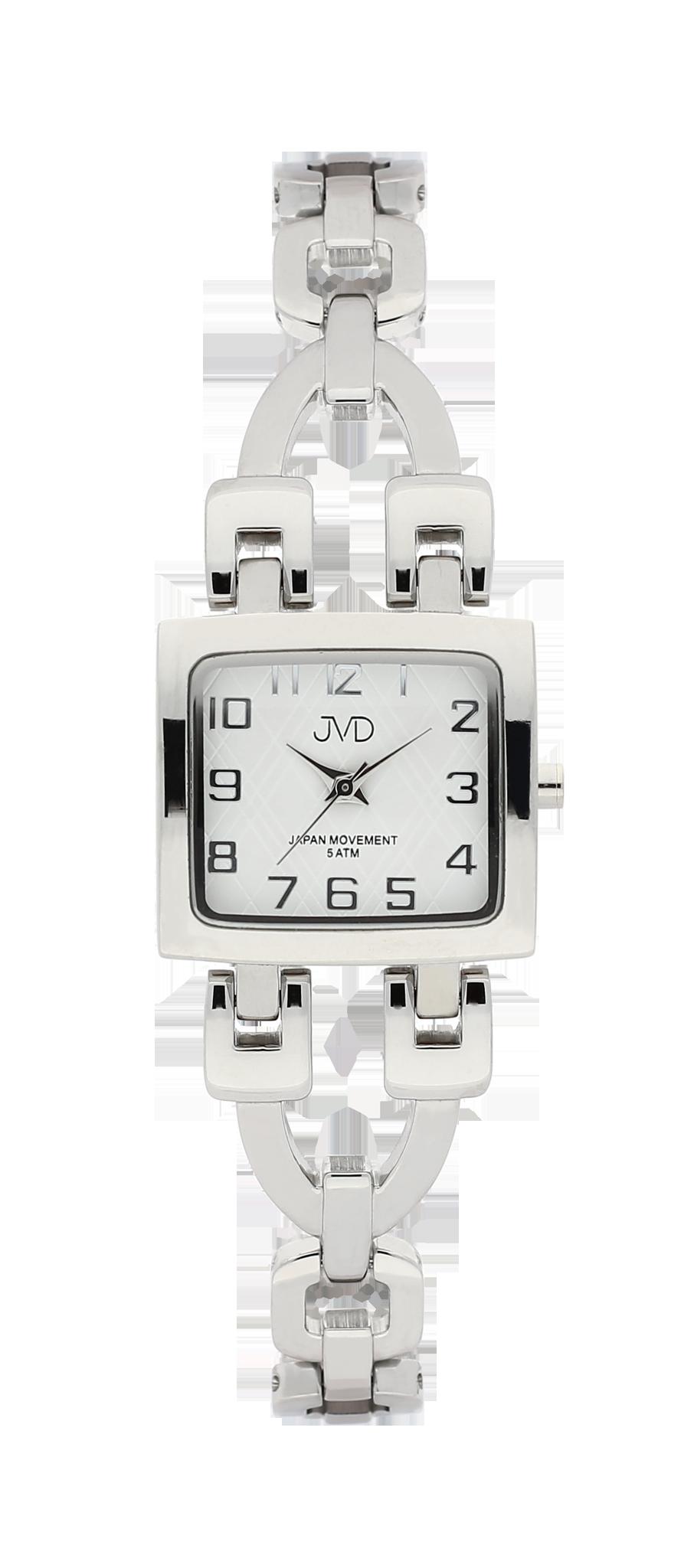 Elegantní hranaté dámské hodinky JVD steel J4127.1 - 5ATM