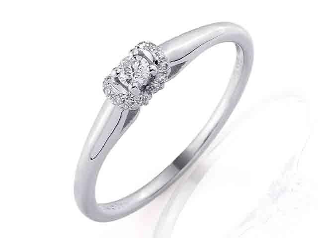 Zásnubní prsten s diamantem, bílé zlato brilianty 3860844-0-53-99 POŠTOVNÉ ZDARMA! (3860844-0-53-99)