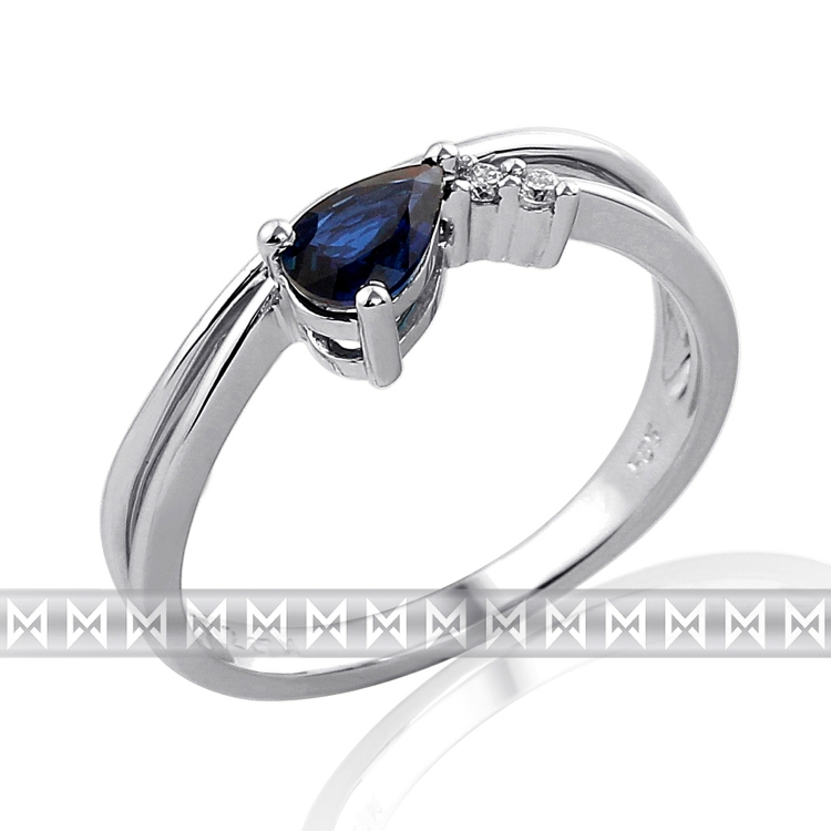 Diamantový prsten se safírem - 1 ks 0,56ct - modrý safír 3860129-0-53-92 POŠTOVNÉ ZDARMA!
