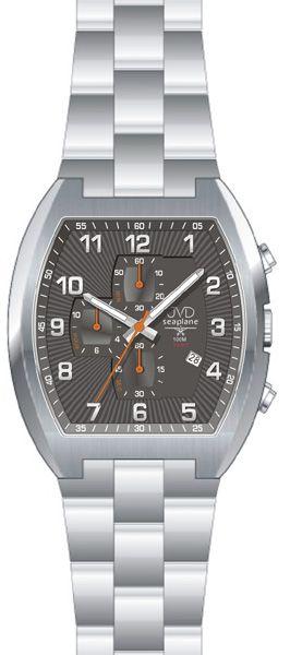 57b1c791829 Vodotěsné hranaté ocelové hodinky JVD Seaplane JS20.2 - 10ATM POŠTOVNÉ  ZDARMA!