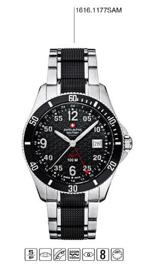 Luxusní pánské vodotěsné hodinky Swiss Alpine Millitary Grovana 1616.1177SAM POŠTOVNÉ ZDARMA! (1616.1177SAM)