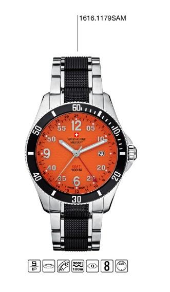 Luxusní pánské vodotěsné hodinky Swiss Alpine Millitary Grovana 1616.1179SAM POŠTOVNÉ ZDARMA! (1616.1179SAM)