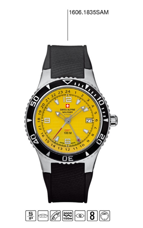 Luxusní pánské vodotěsné hodinky Swiss Alpine Millitary Grovana 1606.18335AM POŠTOVNÉ ZDARMA! (1606.1835SAM)