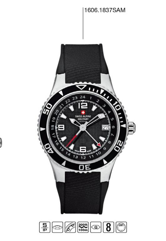 Luxusní pánské vodotěsné hodinky Swiss Alpine Millitary Grovana 1606.1837 SAM POŠTOVNÉ ZDARMA! (1606.1837SAM)