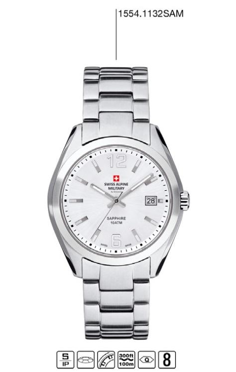Luxusní pánské vodotěsné hodinky Swiss Alpine Millitary Grovana 1554.1132 SAM POŠTOVNÉ ZDARMA! (1554.1132 SAM)