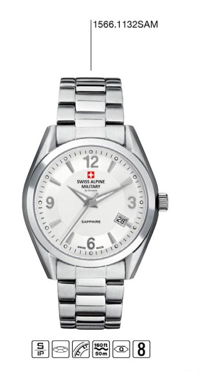Luxusní pánské voděodolné hodinky Swiss Alpine Millitary Grovana 1566.1132 SAM POŠTOVNÉ ZDARMA! (1566.1132 SAM)
