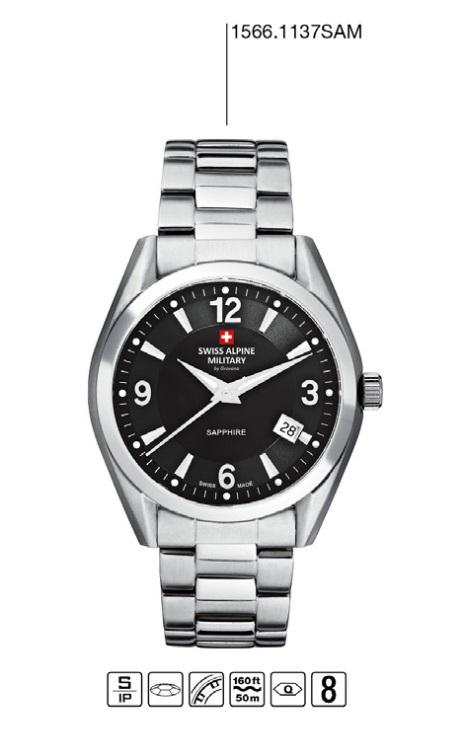 Luxusní pánské voděodolné hodinky Swiss Alpine Millitary Grovana 1566.1137 SAM POŠTOVNÉ ZDARMA! (1566.1137 SAM)