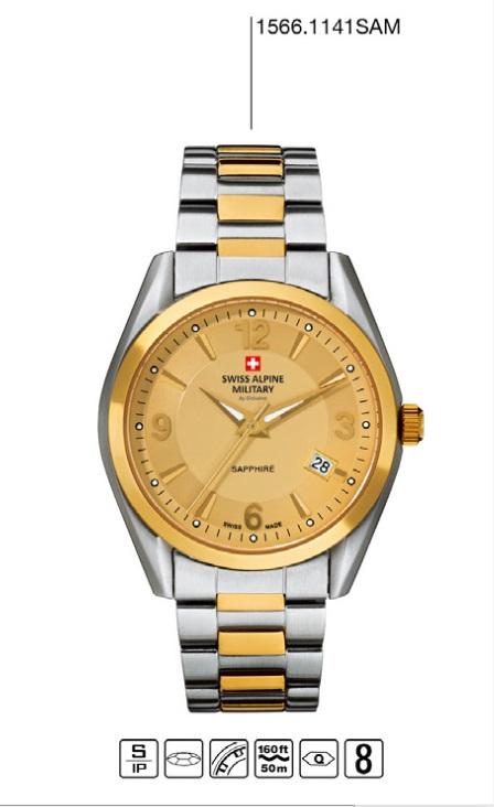 Luxusní pánské voděodolné hodinky Swiss Alpine Millitary Grovana 1566.1141 SAM POŠTOVNÉ ZDARMA! (1566.1141 SAM)