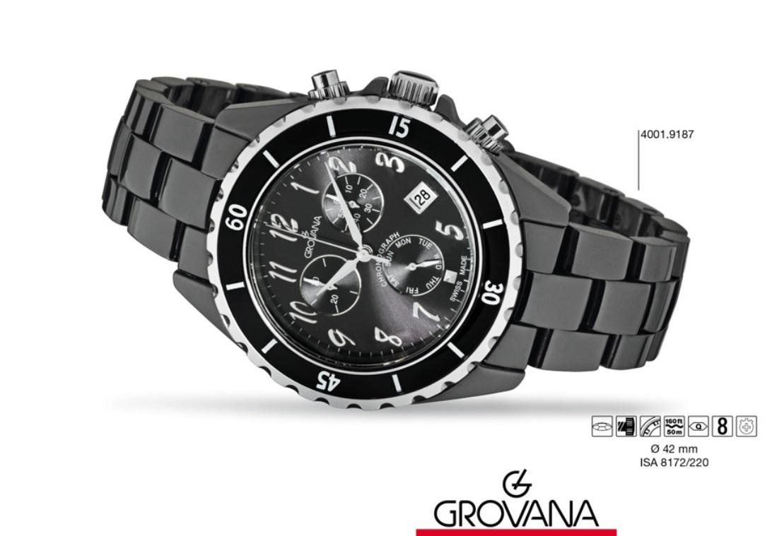 Švýcarské keramické hodinky Grovana 4001.9187 - chronograf 5ATM POŠTOVNÉ  ZDARMA! 7a457a81da