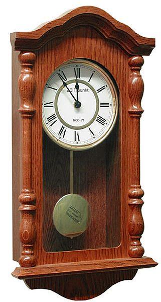 Dřevěné nástěnné rádiem řízené kyvadlové hodiny ASSO A19/175/2