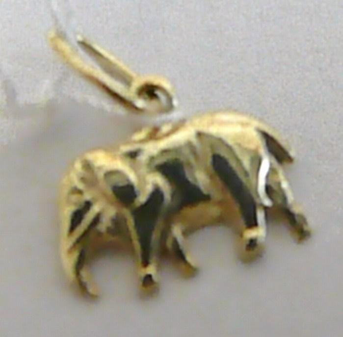 Zlatý přívěsek - slůně pro štěstí 585/0,78gr žluté zlato H331
