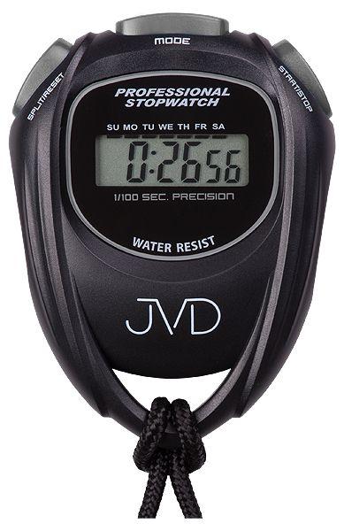 Černé designové profesionální stopky JVD ST80.2 i s odpočtem času