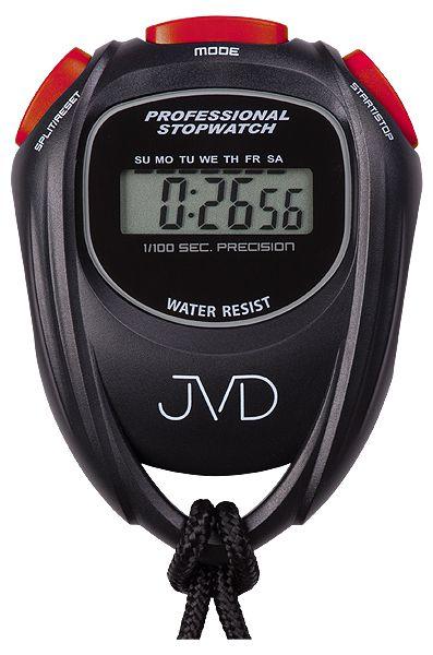 Černé designové profesionální stopky JVD ST80.1 i s odpočtem času