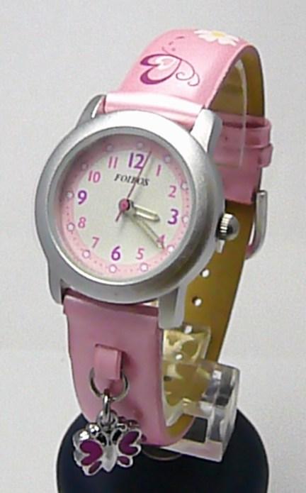 Dětské růžové holčičí hodinky Foibos 1583.2 pro dívky 9bfb5d26993