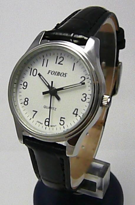 Dámské společenské ocelové hodinky Foibos 2637L na kůži