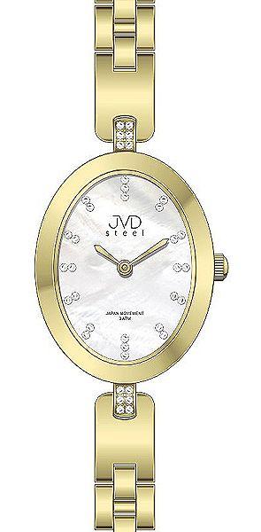 Dámské ocelové elegantní hodinky JVD steel J4095.1 s perleťovým číselníkem POŠTOVNÉ ZDARMA!