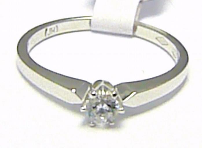 Zásnubní prstýnek z bílého zlata se zirkonem 585/1,52 gr vel. 49 H346 POŠTOVNÉ ZDARMA!